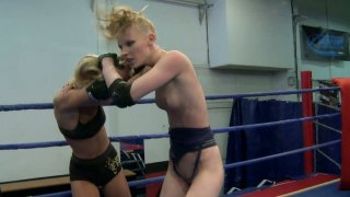 Gitta Blond and Bianka Lovely undressing each other in fight Preview Image