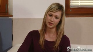 Cute blonde teen Tara B comes to the office of the modelling agency Preview Image