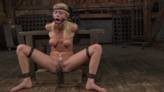 Horny nerd in glasses Allie James gets tied_up_for BDSM Preview Image