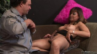 Kinky shemale mom Johanna B gets her pricked sucked hard Preview Image