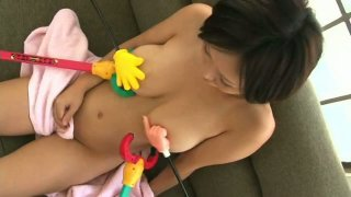 Gays playing with beautiful busty chick Anri-Chan Preview Image