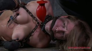 Brown head_bitch gets her firm nipples squeezed hard in BDSM video Preview Image