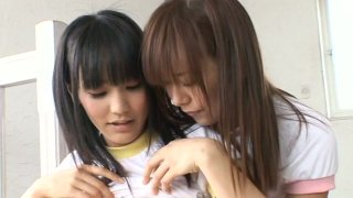 Cute young babe Yuri Hamada loves to touch and play with other girls Preview Image