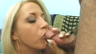 Bosom milfy blonde Kori Taylor gives eager blowjob Preview Image
