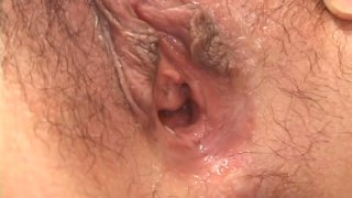 Torrid Japanese Karura Anzai gets her hairy pussy drilled with_a dildo Preview Image