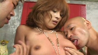 Two_horny_dude_pound_Azusa_Isshiki_in_a_hot_threesome_sex_video_produced_by_AvIdolz Preview Image