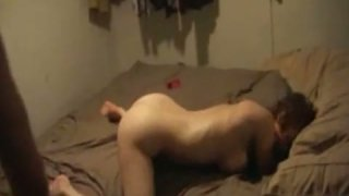 Lustful blonde chick gets fucked hard in her asshole. Homemade video Preview Image