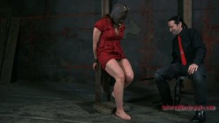 Extreme BDSM game with gorgeous redhead mommy Catherine de Sade Preview Image