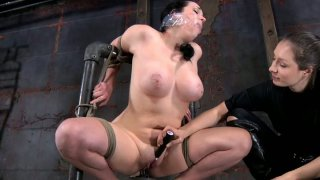 Creative BDSM game with chubby brunette hoe Samantha Grace Preview Image