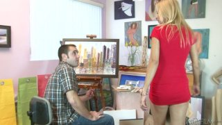 Sloppy blowjob by curvaceous blonde mom Payton Leigh Preview Image