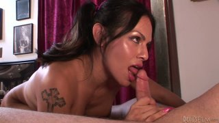 Being totally absorbed with giving a handjob_shemale Foxxy wanna_win cum Preview Image