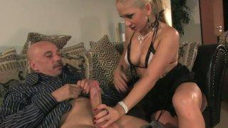 Lustful slut Leah Lush seduces an_old man and sucks his dick deepthroat Preview Image