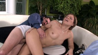 Emotional Szilvia Lauren gets fucked doggy on the couch Preview Image