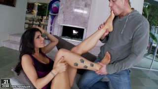 Romi Rain in sultry sex video with foot_fetishism_elements Preview Image