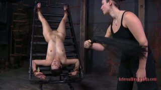 Russian doxy Marina get slapped by her_lady master in cruel BDSM sex video Preview Image