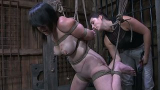 Fat piglet with stretched pussy in dirty BDSM sex video Preview Image