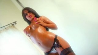 Divine brunette beauty Eva Angelina gives deepthroat blowjob Preview Image