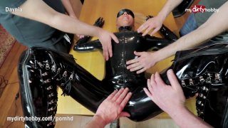 4 on 1 Cock Surprise for Full Latex Body Suited Daynia Preview Image