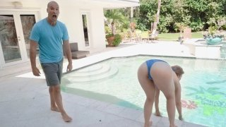 Sexy Lena_Paul pool-side ecstasy Preview Image