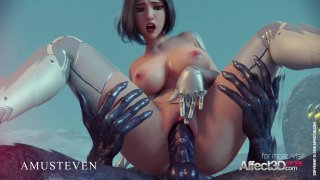 3D superhero Angelita fucked by an alien monster Preview Image