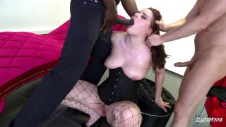 Young brunette has her ass sodomized in an interracial threesome Preview Image
