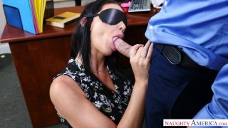 Masturbating Boss Gives a Blindfolded Blowjob to a Big Dick Preview Image