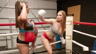 Boxing Lesbians Tribbing In The Ring Preview Image