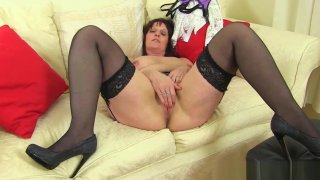 English milf Beau puts her sex toy to work Preview Image