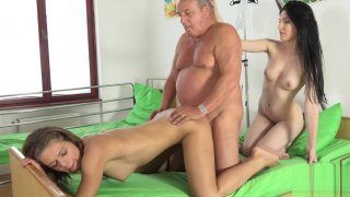 Grandpa at the doctor fucks hot young nurses in old young Preview Image