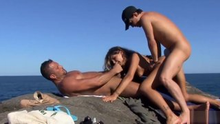 Vayana getting fucked by the shore in a threesome Preview Image