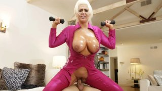 Roid Raged Gym-MILF Jumps on Cock Preview Image