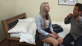 Blonde college girl gets fucked by Asian guy Preview Image