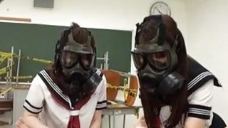 CFNM Gas Mask_Japanese Schoolgirls_Subtitles Preview Image