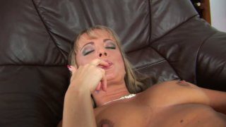 Crummy blonde whore Cordula_is fingering_her pussy and showing her pussy close-up Preview Image