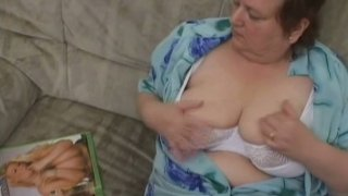 Retired crone Miranda has a dildo for drilling her mature cunt Preview Image