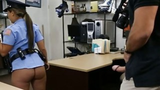 Latina police officer gets her pussy banged by pawn guy Preview Image