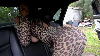 Natural titted latina sucking and fucking big cock in the car Preview Image
