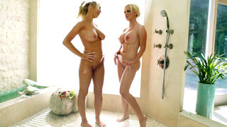 Nikki Benz and Tasha_Reign getting wet in the_shower Preview Image