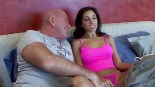 Awesome Brunette Babe Fucks Her Stepdad Hard Preview Image