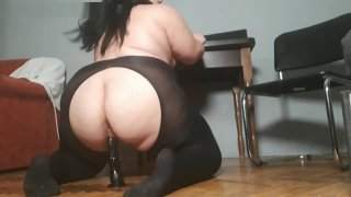 BBW_Rides_on_a_Black_Dildo Preview Image