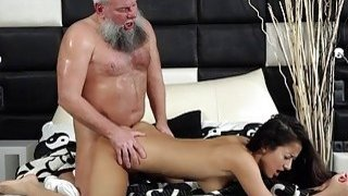 Young Busty Teen Takes Facial Cumshot From Grandpa Preview Image