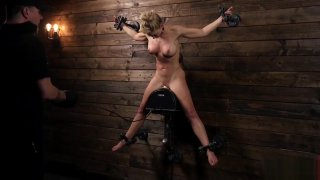 MILF Kitten Cherie Deville Restrained and Sybianed in Metal Preview Image