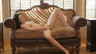 Buxom_brunette_Hanna_Lay_fondles_her_tits_and_pinches_her_puffy_nipples_on_her_way_to_satisfying... Preview Image