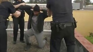 Black dude is forced to fuck horny female cops and satisfy their creamy pussies Preview Image