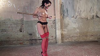 BDSM session featuring a babe with clumps on tits Preview Image