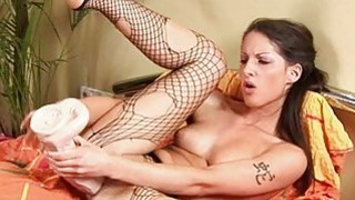 Plowing babes twat with fake penis makes her very Preview Image