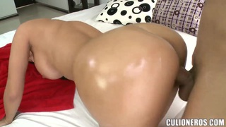 Luxurious brunette bitch drilled in doggie Preview Image