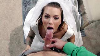 Horny bride Juelz Ventura_sucks wedding dress salesman's shaft Preview Image