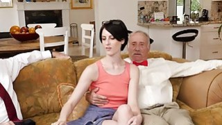 Alex Harper sucking off old mens cocks Preview Image