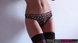 Enjoy this hot solo scene with Amber Sym in sexy lingerie Preview Image